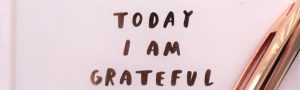 an image of a journal that says today I am grateful to remind readers to appreciate what they can and to practice the recovery skill of gratitude when they can