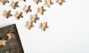 holiday cookies to remind readers of the need to be intentional about crafting a sober holiday season for success in substance abuse recovery