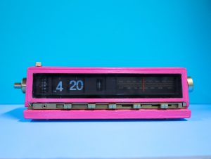 """a picture of a digital clock on """"4:20"""" to reinforce the idea that substance abuse habits are formed in the brain and need to be changed with treatment from substance abuse"""